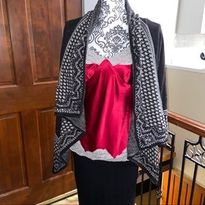 Express Camisole Red/Grey Size Small
